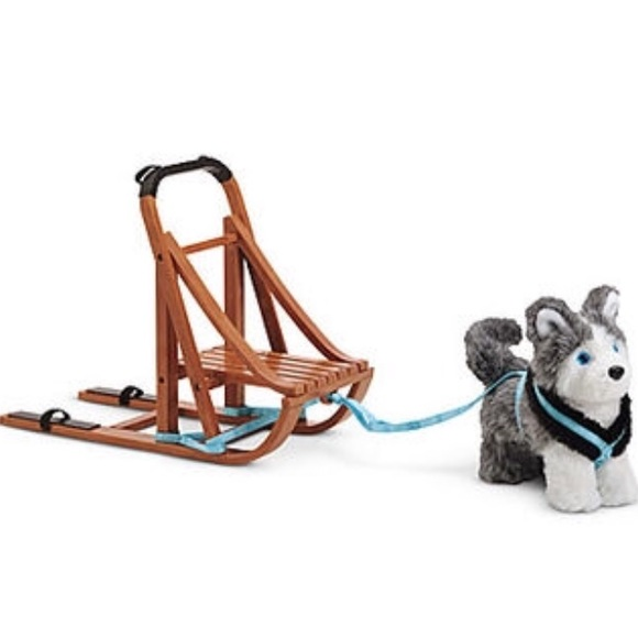 American Girl Other | Discontinued Coconut Dog Sled | Poshmark
